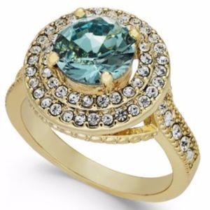✨Gold Tone Pavé Stone Halo Ring Cubic Zirconia 7